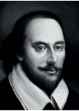 William Shakespeare - reprodukce kresby - A0